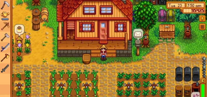 stardew valley - Activate _Always Show Tool Hit Location_