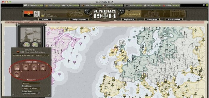 Supremacy 1914 - Step 5 Select A Country To Develop
