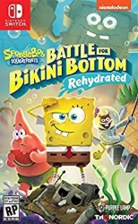 Nintendo Switch Multiplayer Games for Kids - Spongebob Squarepants Battle for Bikini Bottom