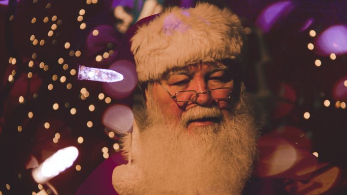 A sad Santa.