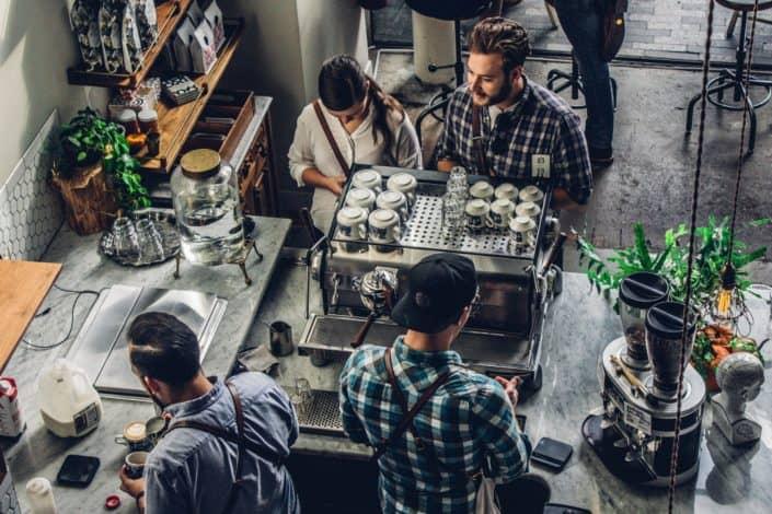 In a cafe scenario