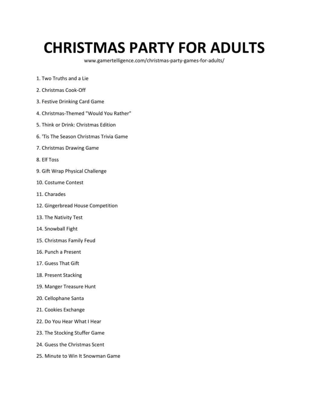 Downloadable and printable jpg/pdf list