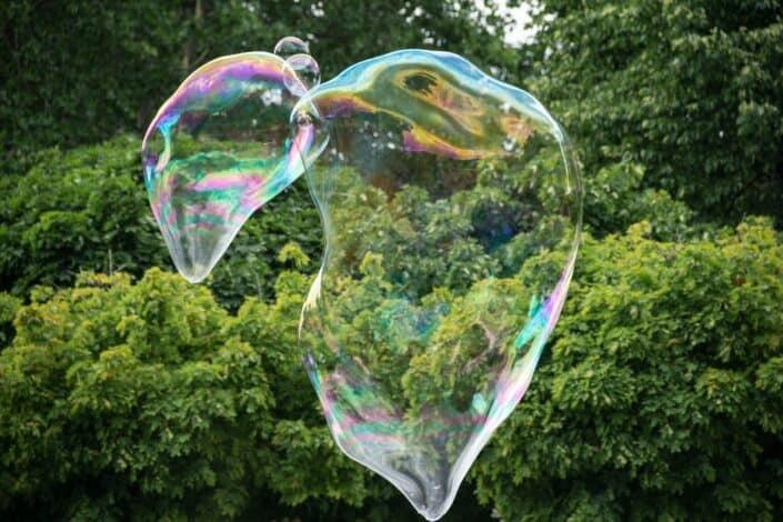 big bubbles outdoors