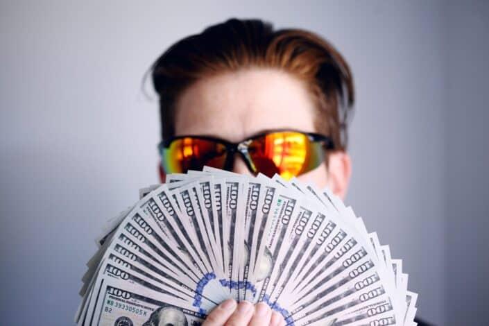 person American one hundred dollar bills