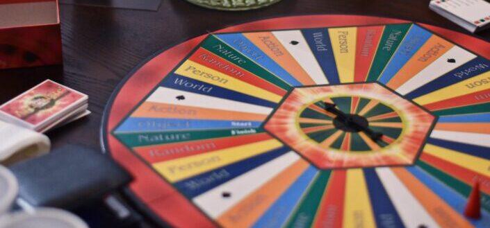 A roulette board game