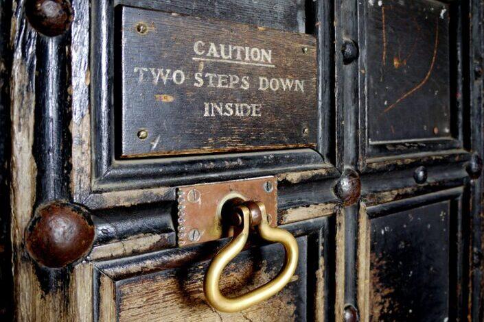 A vintage door knocker.