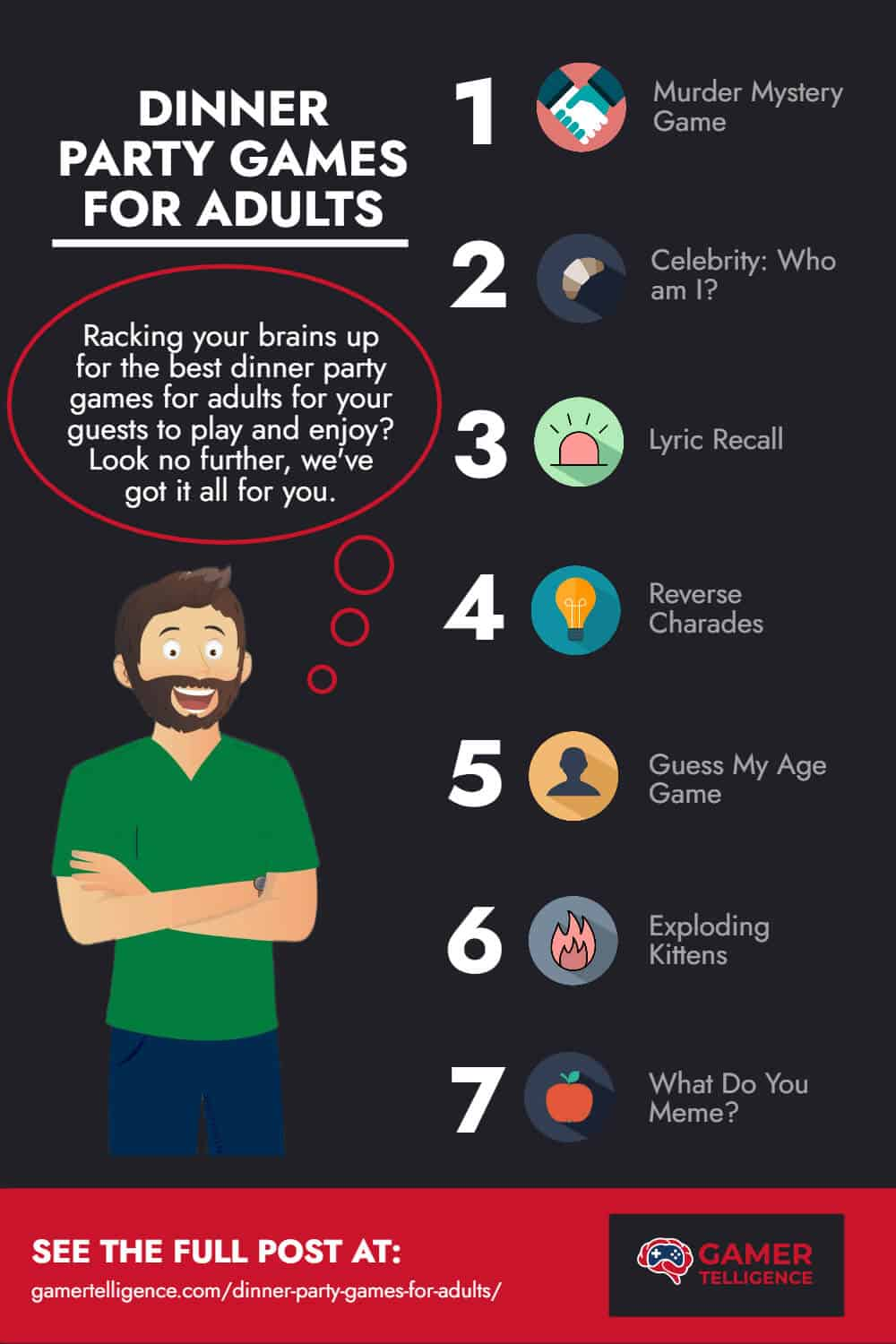 Infographics - Dinner Party games for adults